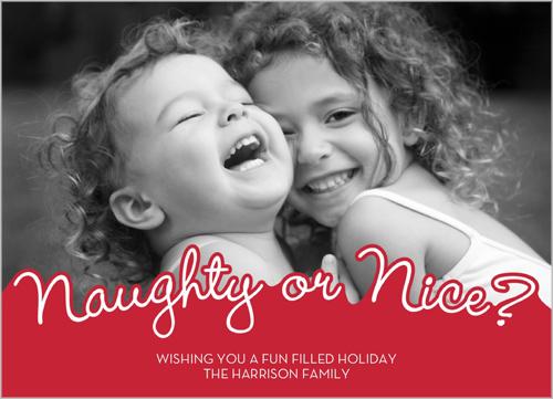 naughty or nice - Naughty Or Nice Christmas Card