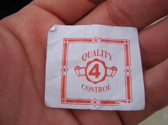 quality control label