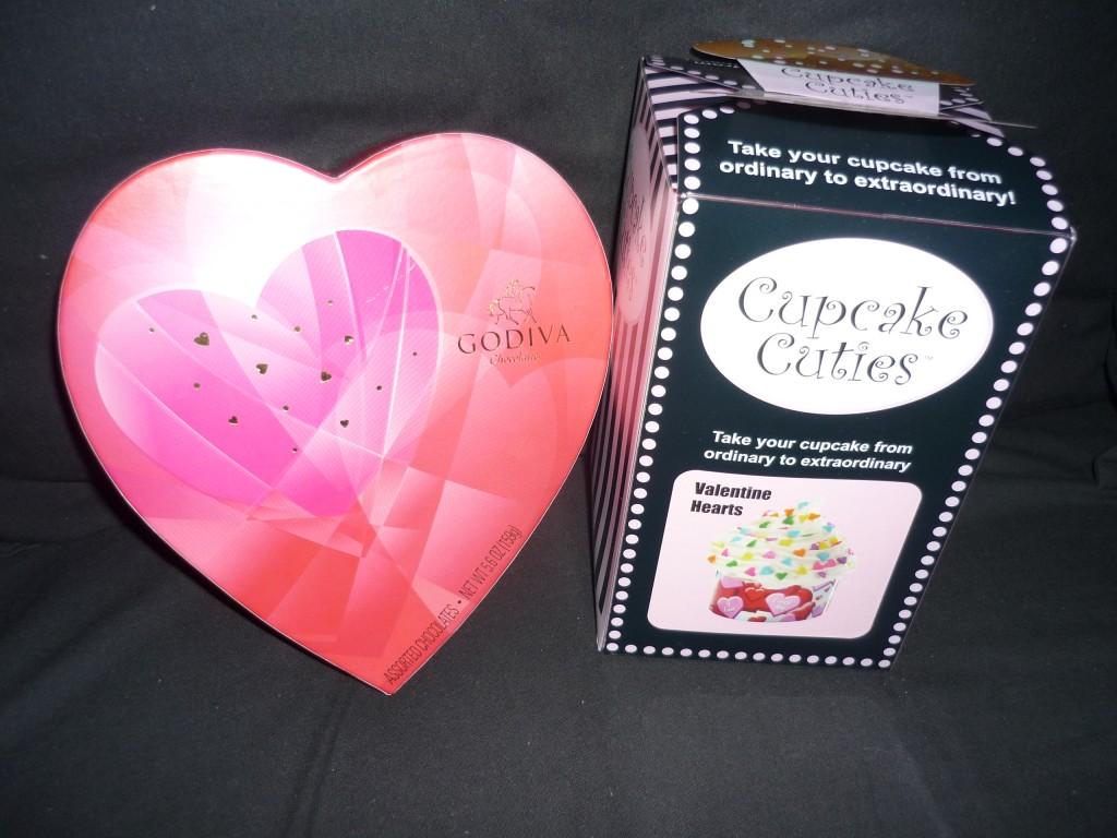 Cupcake Cuties, godiva valentine chocolates