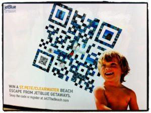 Jetblue QR code florida campaign
