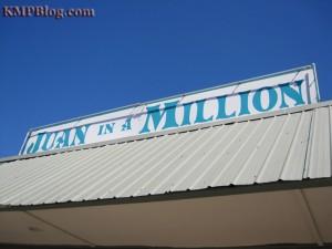 juan in a million sign