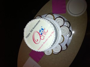 O So Chic 3rd annivesary cake