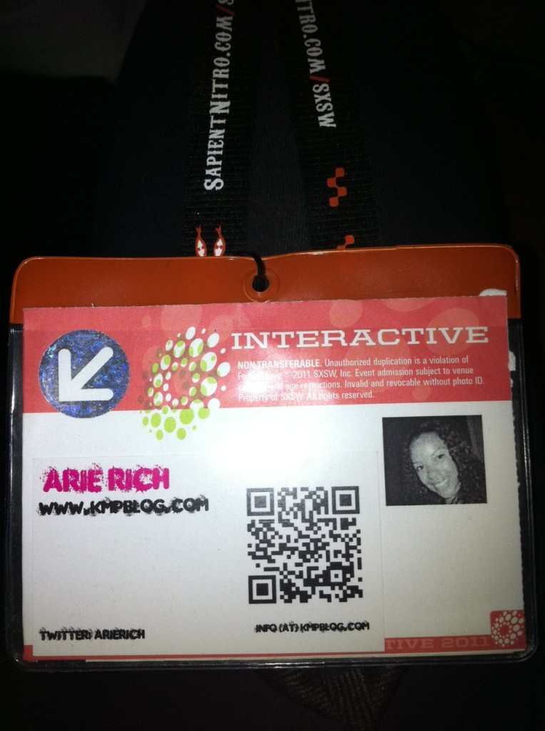 SXSW 2011 Interactive Badge