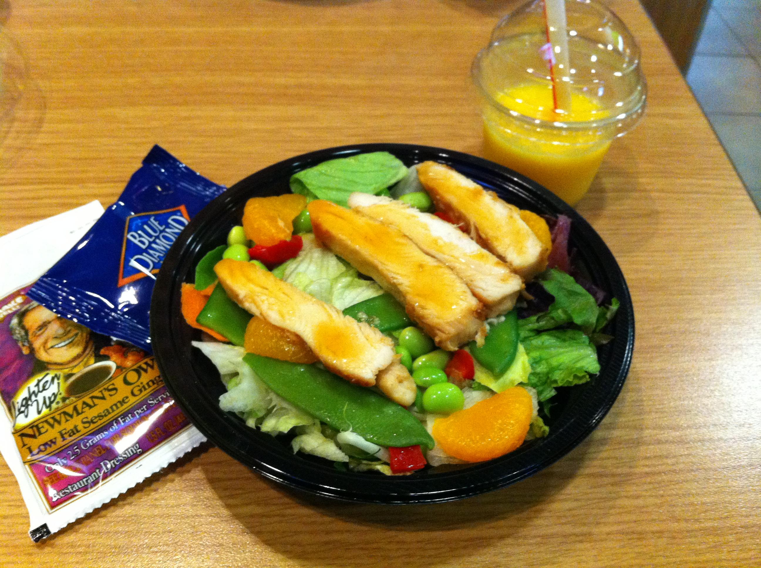 Asian calorie in mcdonalds salad