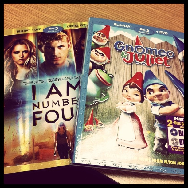 I am Number four and Gnomeo and Juliet Blu-ray dvds