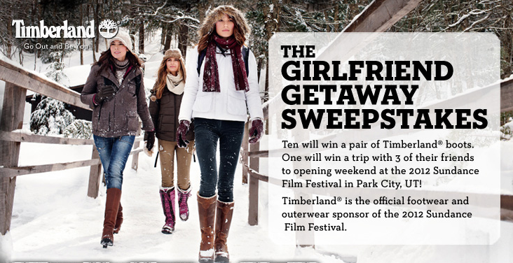 Timberland's The Girlfriend Getaway Sweepstakes