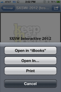 PDF attachments to open with iBooks
