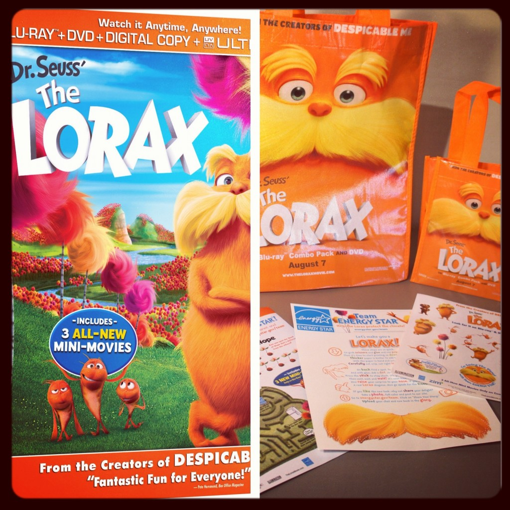 The Lorax DVD movie giveaway