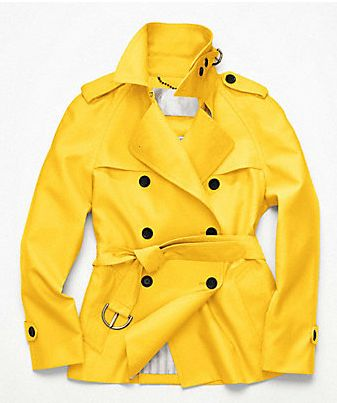 coach sunflower trench coat