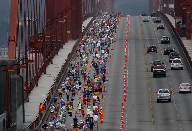 San Francisco Marathon - Golden Gate Bridge