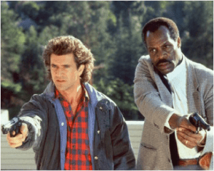 Lethal Weapon - Mel Gibson and Danny Glover