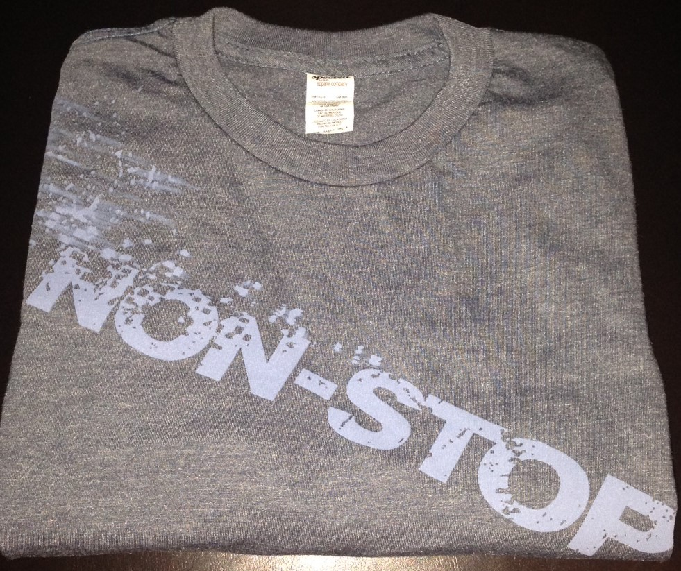non-stop tshirt giveaway