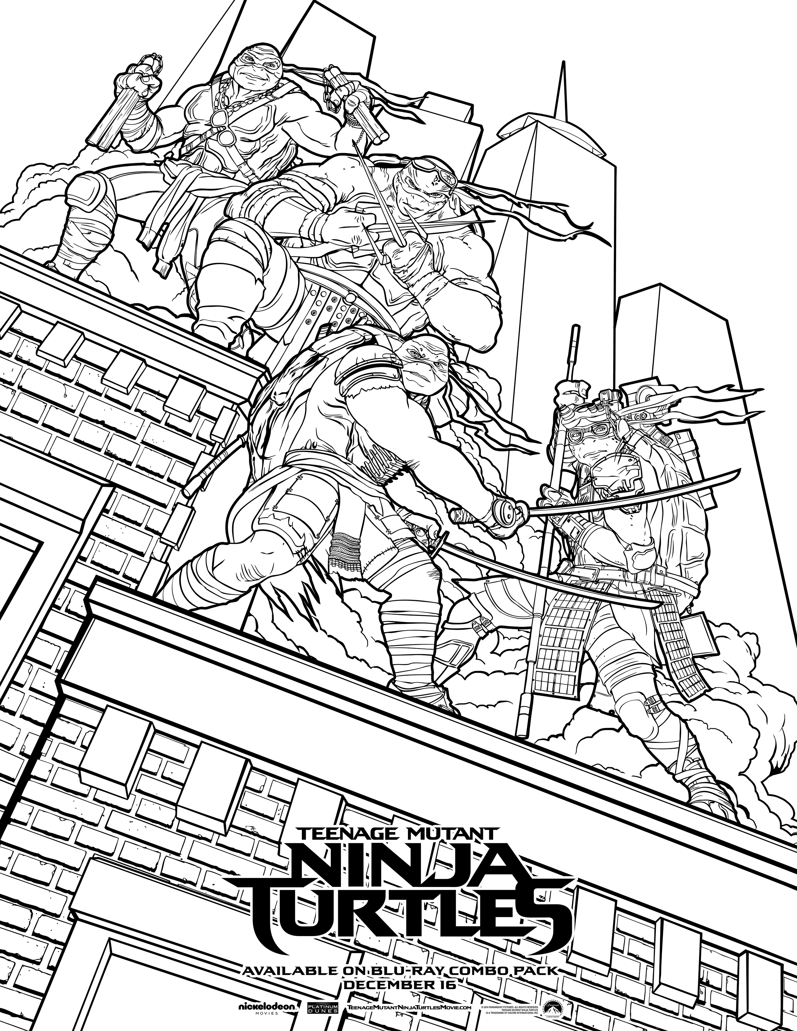 click here to download a free tmnt coloring sheet